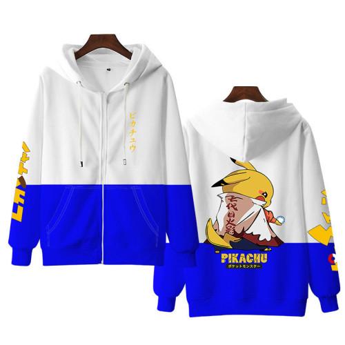 Pokemon Naruto Fall and Winter Zipper Unisex Fashion Loose Coat