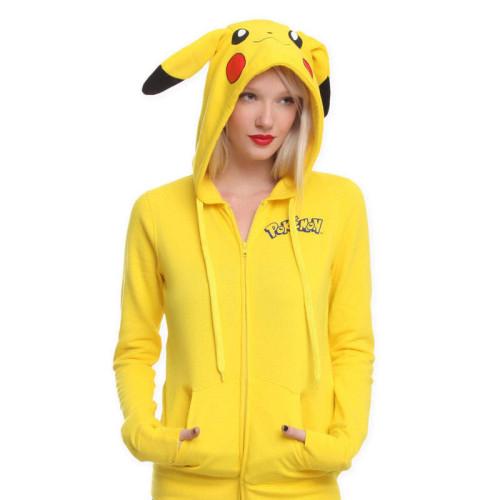 Pokemon Fall and Winter Trendy Zipper Unisex Trendy Cute Coat