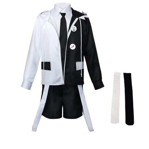 Danganronpa Monokuma Men Women Costume Suit Black and White Bear Halloween Party Cosplay Outfit fir Girls Boys