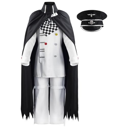 Danganronpa V3 Kokichi Oma Cosplay Cosplay Uniform White Halloween Party Costume Outfit
