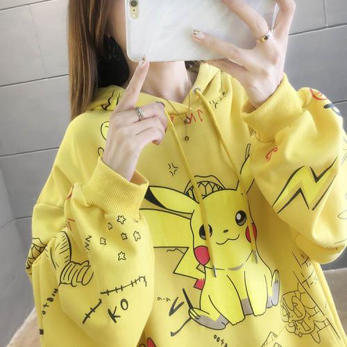 2021 Pokemon Fashion Loose Casual Hoodie Long Sleeves Unisex Hoodie