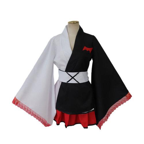 Danganronpa Monokuma Kimono Dress Costume Lolita Dress With Wigs Halloween Cosplay Outfit