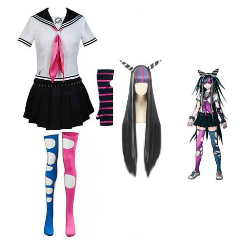 Danganronpa 2: Goodbye Despair Ibuki Mioda Cosplay Costume With Wigs Whole Set Halloween Costume Outfit