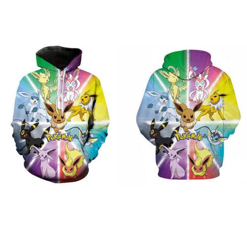 Pokemon Kids Fashion 3-D Print Hoodie Long Sleeves Unisex Hoodie
