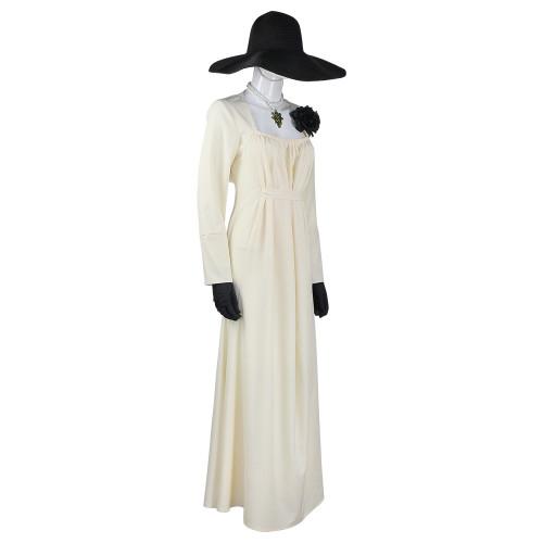 Game Resident Evil 8 Village Vampire Lady Costume Set Dimitrescu Women Dress Up Halloween Costume Outfits