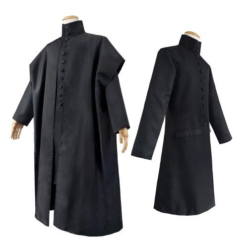 Harry Potter Professor Severus Snape Cosplay Costume Cloak Halloween Party Costume