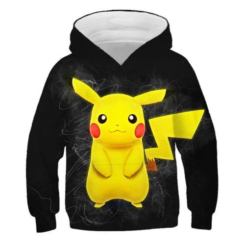 Pokemon Kids Fashion Casual Hoodie Long Sleeves Unisex Hoodie