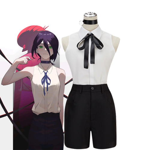 Anime Chainsaw Man Lady Reze Full Set Cosplay Costume Uniform With Cosplay Wigs Halloween Party Cosplay Outfit