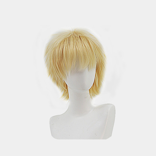 Anime Chainsaw Man Denji Cosplay Golen Short Wigs