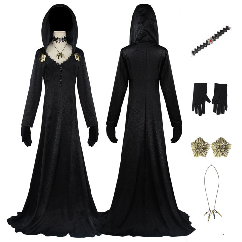 Game Resident Evil 8 Village Cosplay Vampire Lady Daniela Dress Costume With Accessories