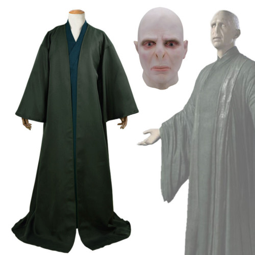 Harry Potter Lord Voldemort Cosplay Costume Robe With Mask Halloween Costume