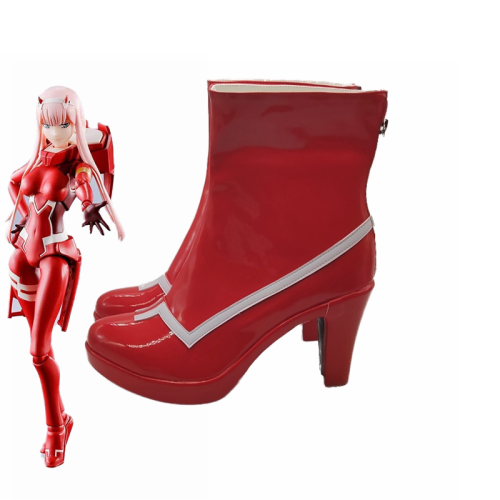 Anime Darling In The Franxx ZERO TWO 002 Strelizia Red Boots Cosplay Shoes Halloween Cosplay Accessories