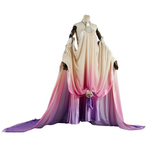Star Wars 3  Revenge of the Sith Padme Amidala Lake Dress Cosplay Costume