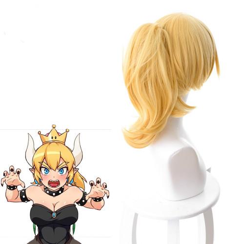 Game Mario Bowsette Princess Bowser Kuppa Hime Koopa Cosplay Wigs