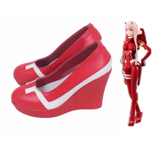 Anime Darling In The Franxx ZERO TWO 002 Strelizia Cosplay Red Shoes Cosplay Accessories