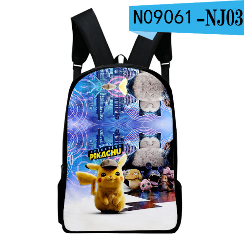 Pokemon Fashion Students Backpack  Big Capacity Rucksack Travel Bag