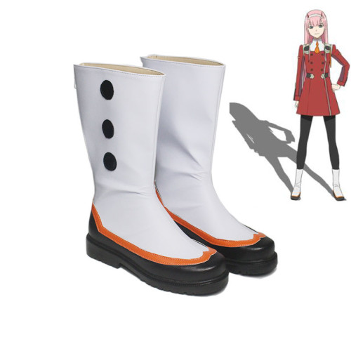 Anime Darling In The Franxx ZERO TWO 002 Strelizia Cosplay White Boots Halloween Cosplay Accessories Shoes