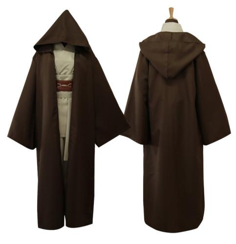 Star Wars Anakin Skywalker Sith Jedi Obi- Wan Kenobi Cosplay Costume Brown Version Halloween Party Cosplay Outfit
