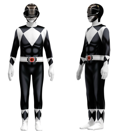 [Kids/Adults]Mighty Morphin Power RangersZentai Costume Halloween Party Cosplay Costume Jumpsuit Outfit