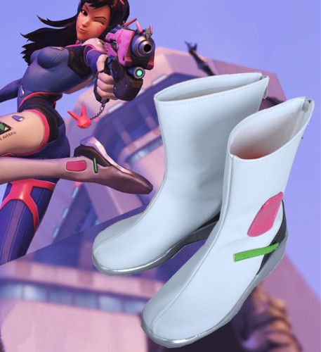 Overwatch DVA Cosplay Accessories Cosplay Boots PU Leather D.Va Shoes