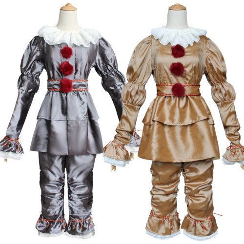 [Kids/Adults]Movie It Pennywise Cosplay Costume Halloween Cosplay Costume Outfit