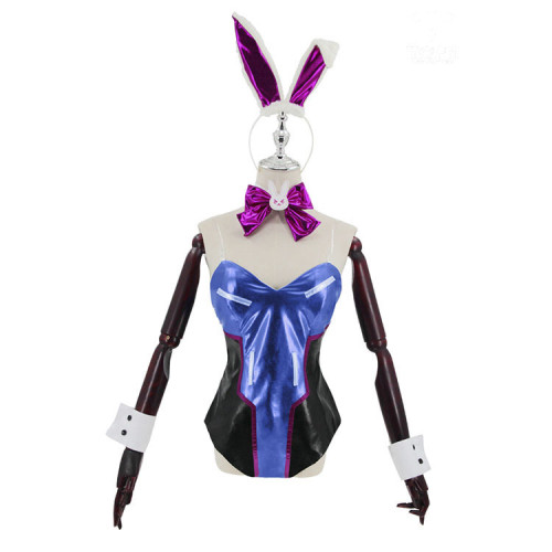 Overwatch DVA Cosplay Jumpsuit Sexy PU Halloween Costume Outfit Full Set