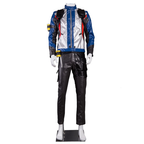 Overwatch OW Soldier 76 Cosplay Costume Full Set With Gloves Halloween Cosplay Costume Outfit