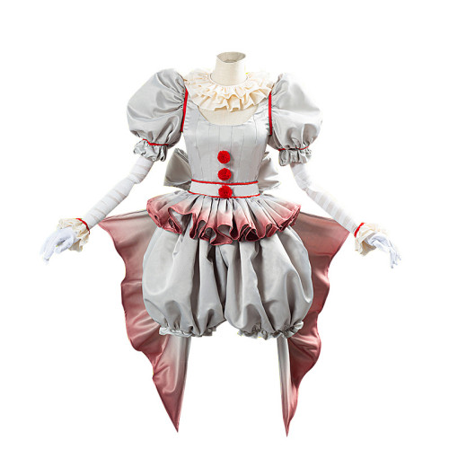 Pennywise Cosplay Costume Horror Pennywise The Clown Outfit Girl Dress Costume