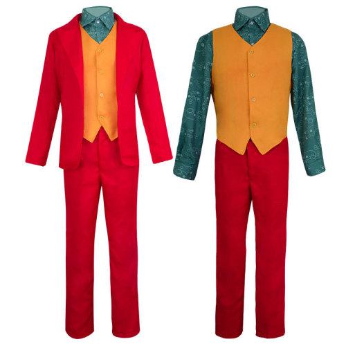 Joker Joaquin Phoenix Costume Halloween Red Costume Suit Cosplay Outfit