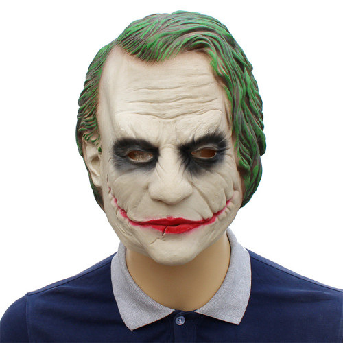 Batman The Dark Knight Cosplay  Heath Ledger Joker Cosplay Mask Halloween Cosplay Props