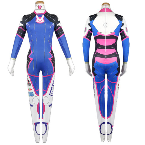 [Kids/Adults] Overwatch DVA Cosplay Costume Jumpsuit Spandex Halloween Cosplay Zentai Outfit