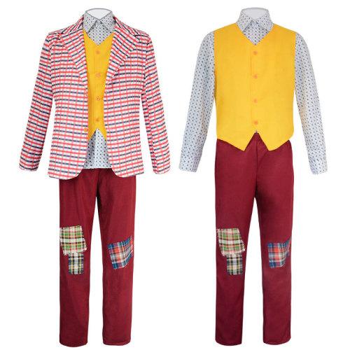 Joker Origin Movie Cosplay Joaquin Phoenix Arthur Fleck Cospaly Costume Halloween Men Outfit