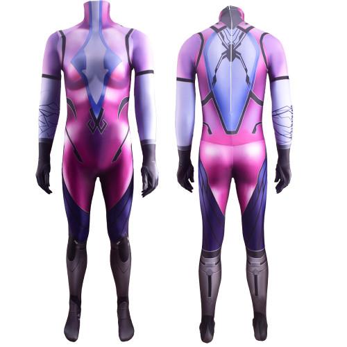 [Kids/Adults] OW Overwatch Widowmaker Classic Skin Costume Zentai Jumpsuit Halloween Spandex Costume