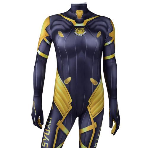[Kids/Adults] OW Overwatch Seoul Dynasty Dva Skin Costume Halloween Cosplay Zentai Jumpsuit