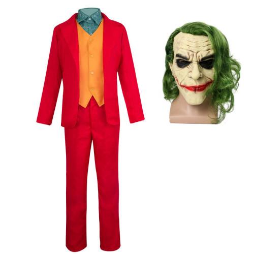 Joker Origin Movie Cosplay Joaquin Phoenix Joker Costume With Mask Halloween Costume Full Set