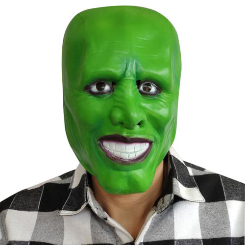 Movie The Mask Jim Carrey Cosplay Mask Green