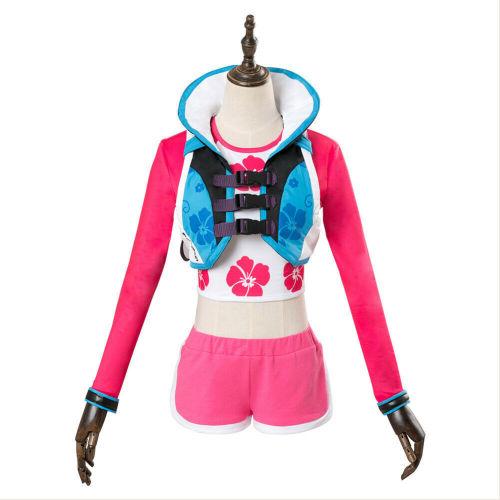 OW Overwatch DVA Cosplay Costume Hana Song D.Va Wave Breaker Waveracer Surfers Uniform Halloween costumes for women