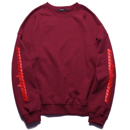 Kanye West Calabasas Print Graphic Sweatshirt Long Sleeve Round Neck Casual Unisex Shirts