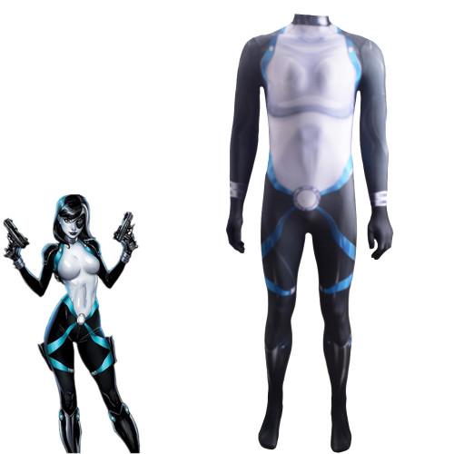 [Kids/Adults]X Men Neena Thurman Domino Zentai Costume Halloween Jumpsuit Costume