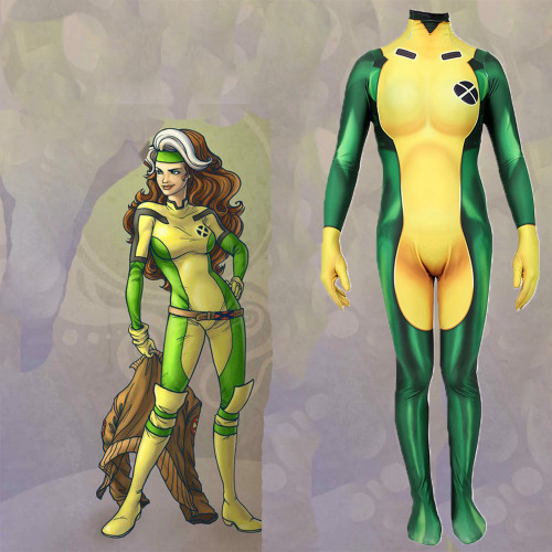 [Kids/Adults]X Men Rouge Cosplay Zentai Halloween Jumpsuit Costume Outfit