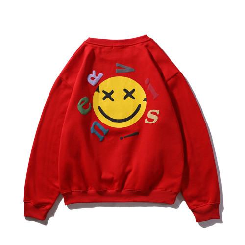Kanye West Smile Face Print Shirt Long Sleeve Casual Hip Hop Streetwear