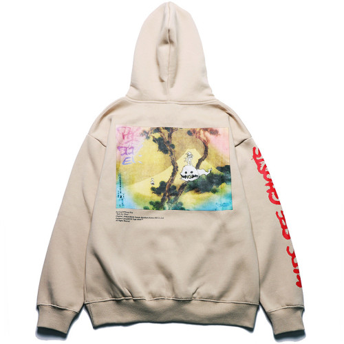 Kanye West Kids See Ghost Hoodie Casual Oversize Long Sleeve Pullovers