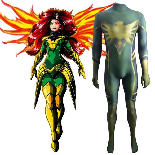 [Kids/Adults]X Men Phoenix Costume Zentai Halloween Jumpsuit Cosplay Outfit