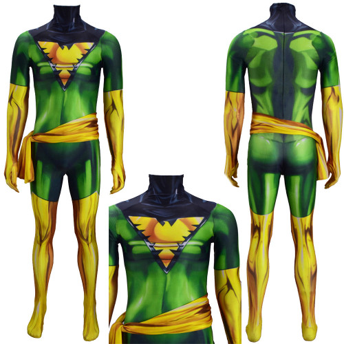 [Kids/Adults]X Men Phoenix Jean Grey-Summers Costume Zentai Spandex Jumpsuit