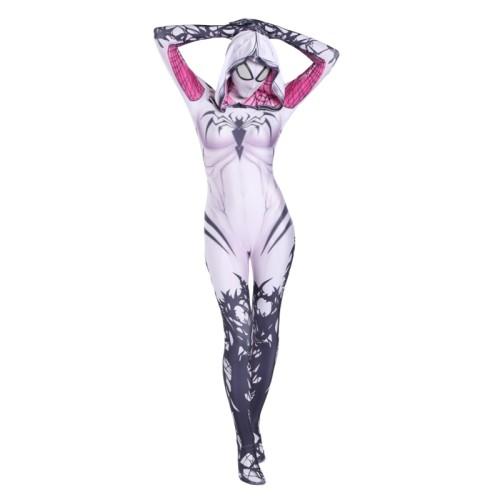 [Kids/Adults] Spider Gwen Costume Symbiote Venom White Zentai Costume