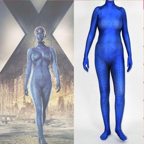 X Men Mystique Raven Cosplay Zentai Costume Halloween Cosplay Jumpsuit