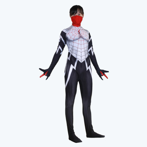 [Kids/Adults] Silk Cindy Moon Zentai Costume Halloween Cosplay Jumpsuit Outfit