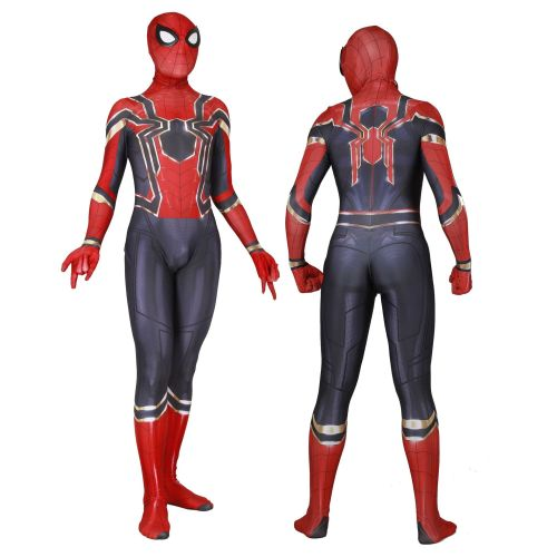 [Kids/Adults] Iron Spider Costume Halloween Cosplay Spandex Zentai Costume Outfit