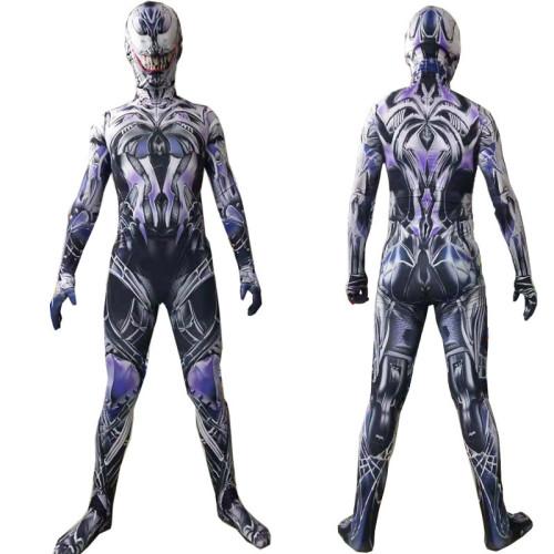 [Kids/Adults] Spider Man Venom Symbiote Costume Zentai Halloween Costume Jumpsuit