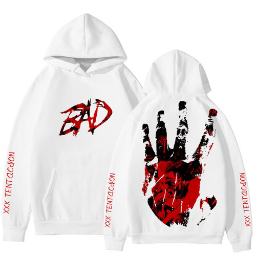 XXXtentacion BAD Print Graphic Hoodie Unisex Sweatshirt Trendy Winter Fall Outfit For Youth Adults